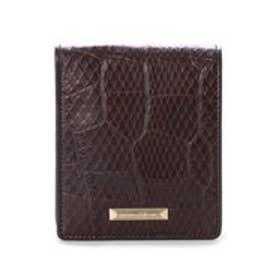 サマンサキングズ 折財布(クロコ×パイソン)(ブラウン)