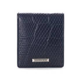 サマンサキングズ 折財布(クロコ×パイソン)(ネイビー)