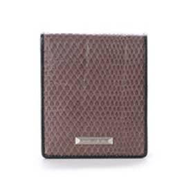 サマンサキングズ 折財布(クロコ×パイソン)(グレー)