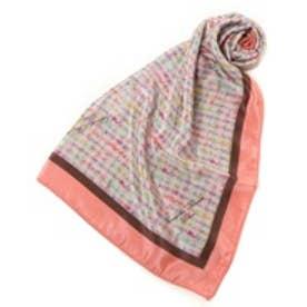 サマンサタバサデラックス ツイード柄スカーフ(ピンク)