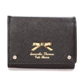サマンサタバサプチチョイス シンプルリボンプレート(ミニ財布)(ブラック)