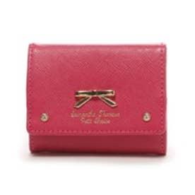 サマンサタバサプチチョイス シンプルリボンプレート(ミニ財布)(マゼンダ)