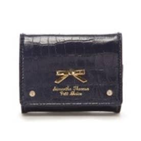 サマンサタバサプチチョイス クロコシンプルリボン ミニ財布 ネイビー