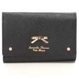サマンサタバサプチチョイス シンプルリボンプレート (口金財布)(ブラック)