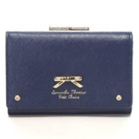 サマンサタバサプチチョイス シンプルリボンプレート (口金財布)(ネイビー)