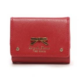 サマンサタバサプチチョイス シンプルリボンプレート(ミニ財布)(レッド)