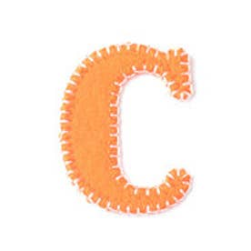 ドリームサマンサキッズ イニシャルワッペン C(オレンジ)