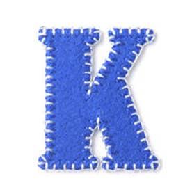 ドリームサマンサキッズ イニシャルワッペン K(ブルー)