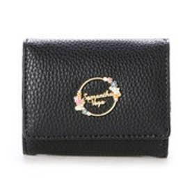 サマンサベガ フラワーミニ財布(ブラック)