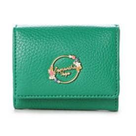 サマンサベガ フラワーミニ財布(グリーン)
