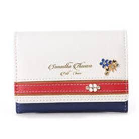【Cancam8月号掲載】サマンサタバサプチチョイス バイカラー マリンシリーズ マルチコインケース(ホワイト)
