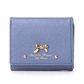 サマンサタバサプチチョイス アシンメトリーリボンシリーズ 三つ折り財布(ダルブルー)