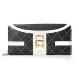 サマンサタバサプチチョイス シンプルリボンプレート ジャケット調バージョン 長財布(ブラック)
