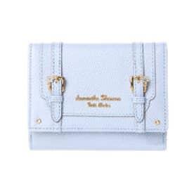 サマンサタバサプチチョイス フラワーベルトモチーフ 折財布(ライトブルー)