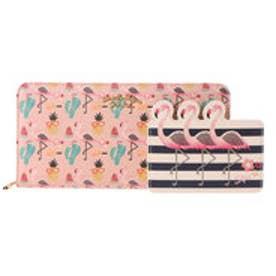 サマンサタバサプチチョイス メキシカンシリーズ ラウンドジップ長財布(ベビーピンク)