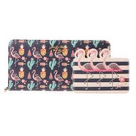 サマンサタバサプチチョイス メキシカンシリーズ ラウンドジップ長財布(ネイビー)
