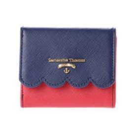 サマンサタバサプチチョイス スカラップモチーフ マリンバージョン ミニ財布(ネイビー)