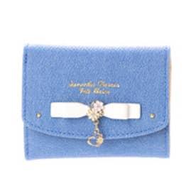 サマンサタバサプチチョイス フラワーハートモチーフシリーズ デニムバージョン ミニ財布(ホワイト)