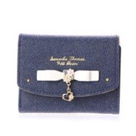 サマンサタバサプチチョイス フラワーハートモチーフシリーズ デニムバージョン ミニ財布(オフホワイト)