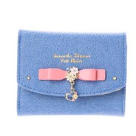 サマンサタバサプチチョイス フラワーハートモチーフシリーズ デニムバージョン ミニ財布(ピンク)