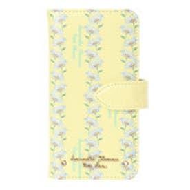 サマンサタバサプチチョイス ボタニカルアート風 フラワープリントシリーズ iPhone7ケース(ペールイエロー)