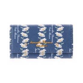 サマンサタバサプチチョイス ボタニカルアート風 フラワープリントシリーズ キーケース(ネイビー)