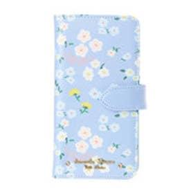 サマンサタバサプチチョイス フラワープリントシリーズ iPhone7Plusケース(ライトブルー)