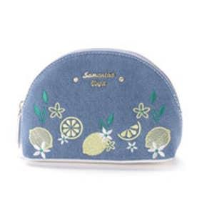 サマンサベガ レモン刺繍 デニムポーチ(ブルー)