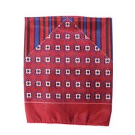 サマンサタバサ vintage柄スカーフ(レッド)