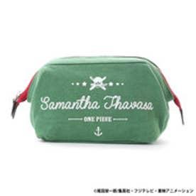 サマンサタバサ ワンピースコラボ ポーチ(ゾロ)(グリーン)