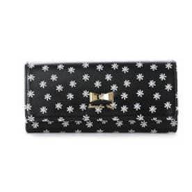サマンサベガ フラワープリントかぶせ財布(ブラック)