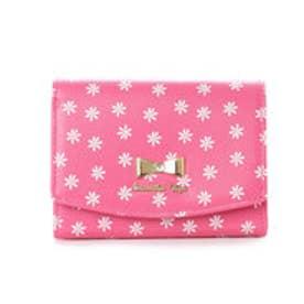 サマンサベガ フラワープリント折財布(ピンク)