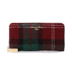 サマンサタバサデラックス ハリスツイード ラウンド財布(グリーン)