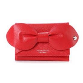 サマンサタバサプチチョイス ビッグリボンモチーフシリーズ 折財布(レッド)