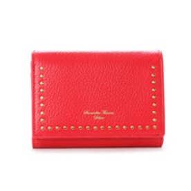 サマンサタバサデラックス スタッズデザイン 三つ折り財布(レッド)