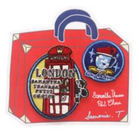 サマンサタバサプチチョイス Lara Collection ロンドンシリーズ ワッペン 電話ボックス(マルチカラー)