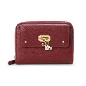 サマンサベガ フラワーモチーフ折財布(ワインレッド)