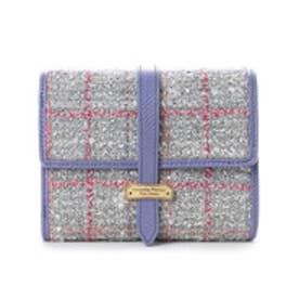 サマンサタバサプチチョイス ベルトシリーズ ツイードバージョン 折財布【3年保証対象品】(ブルー)