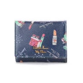 サマンサタバサプチチョイス Lara Collection ヘルシンキシリーズ コスメプリント 折財布(ネイビー)
