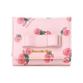 サマンサベガ フラワープリント 折財布(ピンク)