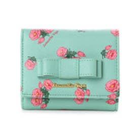 サマンサベガ フラワープリント 折財布(ミント)