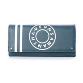 サマンサベガ ボーリングプリント かぶせ財布(ダークグリーン)