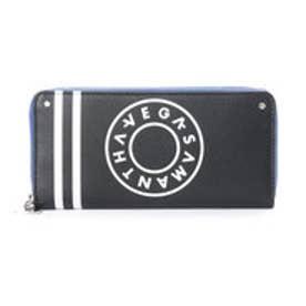 サマンサベガ ボーリングプリント ラウンド財布(ブラック)
