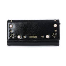 サマンサベガ パールかぶせ長財布(ブラック)