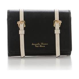 サマンサタバサプチチョイス ダブルベルトデザインシリーズ 折財布(ブラック)