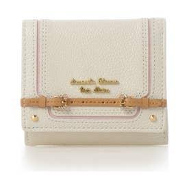 サマンサタバサプチチョイス ベルトデザインシリーズ 折財布(ホワイト)