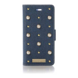 サマンサタバサプチチョイス パールモチーフ デニムバージョン BOOK型iPhone8+ケース(ブルー)