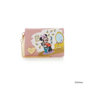 サマンサベガ ミニー&フィガロ 二つ折りパスケース(ピンク)