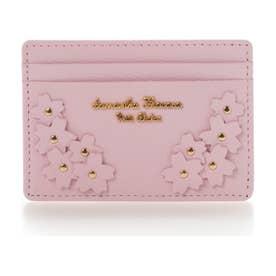 サマンサタバサプチチョイス Lara Collection 日本 サクラ柄お財布シリーズ パスケース(ピンク)