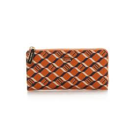 サマンサタバサ モノグラム ラウンドジップ長財布(オレンジ)